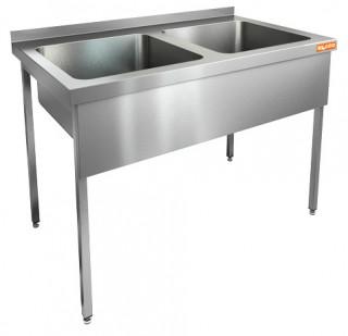 Ванна моечная двухсекционная HICOLD НСО2М-11/6Б цельнотянутая