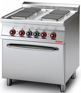 Плита электрическая LOTUS CFQ4-78ET четырехконфорочная с жарочным шкафом (серия 70)