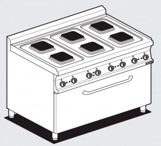 Плита электрическая LOTUS CFQ6-712ET с духовкой