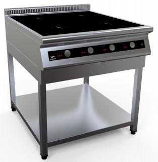 Плита индукционная четырехконфорочная I9-4S на открытой подставке [серия 900]