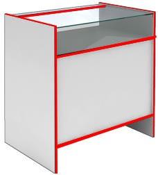 Прилавок со стеклянным верхом S6090 GS STEP (кромка красная)