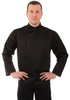Куртка шеф-повара черная мужская на кнопках [00005]