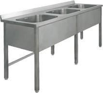Ванна моечная трехсекционная ВМ-42/456 нерж