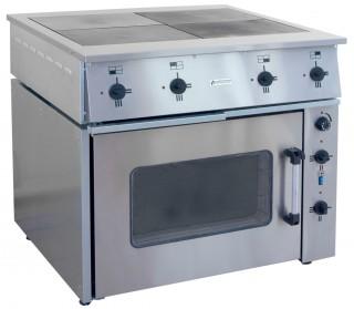 Плита электрическая ПЭ-0.48М четырехконфорочная с жарочным шкафом