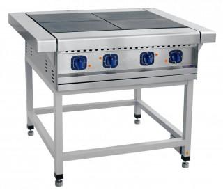 Плита электрическая ЭП-4П четырехконфорочная без жарочного шкафа (лицевая нерж, серия 900)
