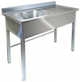 Ванна моечная с рабочей поверхностью ВМ-32/456 П нерж
