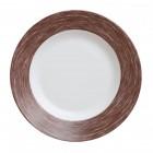 Тарелка d=220 мм. глубокая, коричневая Color Days /24/
